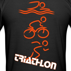 Triathlon man - Männer Slim Fit T-Shirt