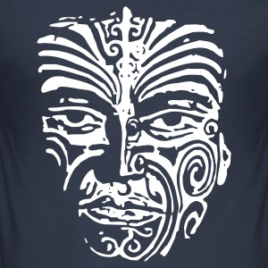 Maori Face Tattoo - Männer Slim Fit T-Shirt