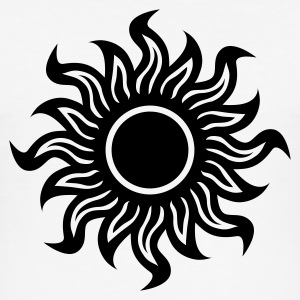 Vit black hole sun (dark) - svart sol T-shirts - Slim Fit T-shirt herr