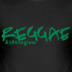 reggae_vec_1 en T-Shirts - Men's Slim Fit T-Shirt