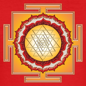 Shri Yantra - Cosmic Energy Conductor T-Shirts - Men's Slim Fit T-Shirt