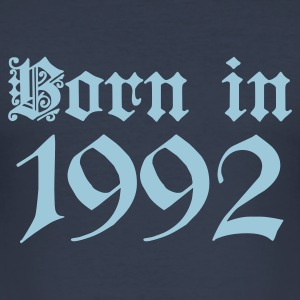 Dark navy Born in 1992 T-Shirts - Männer Slim Fit T-Shirt