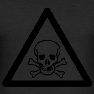 Hazard Symbol - Poisonous Substance T-Shirts - Men's Slim Fit T-Shirt