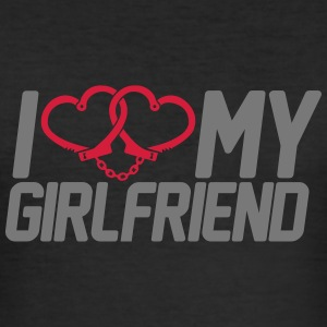 I Love my Girlfriend T-Shirts - Men's Slim Fit T-Shirt