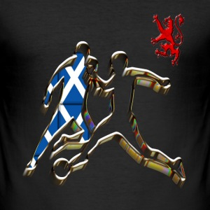 Scotland footballer saltire soccer T-Shirts - Men's Slim Fit T-Shirt