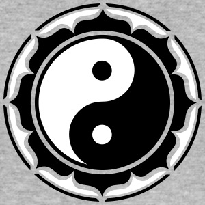 Yin Yang Lotus, Chinese Symbol Taiji, Taoism, 2c, T-Shirts - Men's Slim Fit T-Shirt