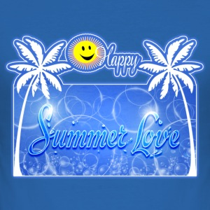 happy summer love Tee shirts - Tee shirt près du corps Homme