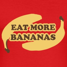 Dark orange Eat more bananas - Eat more bananas Men's T-Shirts