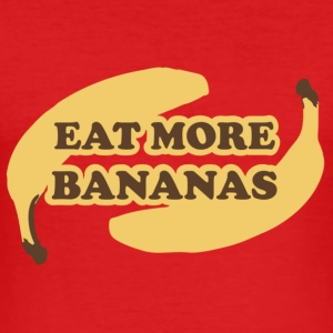 Dark orange Eat more bananas - Esst mehr Bananen T-Shirts - Männer Slim Fit T-Shirt