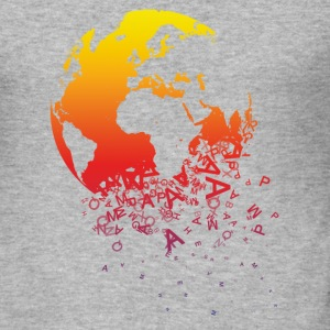 Grijs gespikkeld World dissolves - World lost T-shirts - slim fit T-shirt