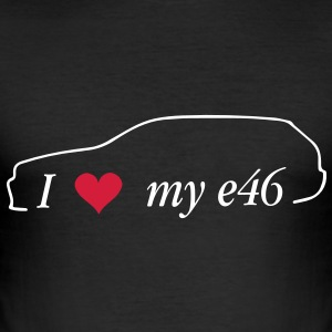 I Love My e46 Touring - Männer Slim Fit T-Shirt