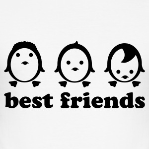 Weiß best friends - line T-Shirts - Männer Slim Fit T-Shirt