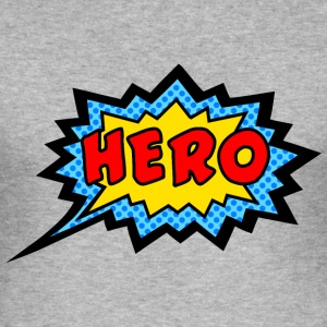 Comic, Hero, Speech Bubble, Superhero, Cartoon T-Shirts - Men's Slim Fit T-Shirt