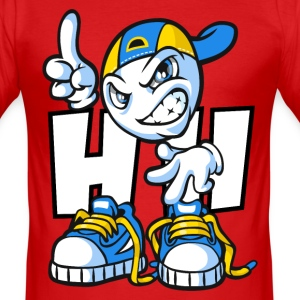 Hip Hop cartoon - Men's Slim Fit T-Shirt