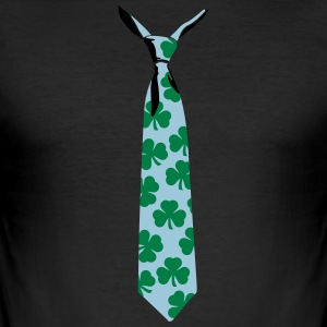 Shamrocks tie - Men's Slim Fit T-Shirt