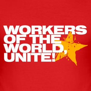 Wine Workers of the world, unite! Men's T-Shirts - Men's Slim Fit T-Shirt
