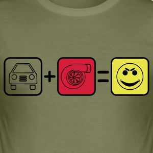Auto+Turbo=Smile T-Shirts - Männer Slim Fit T-Shirt