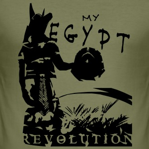 my_egypt_revolution_vec_1 T-Shirts - Men's Slim Fit T-Shirt