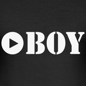 play with boy T-Shirts - Männer Slim Fit T-Shirt