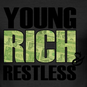 young, rich and restless T-Shirts - Men's Slim Fit T-Shirt