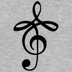 modern music clef T-shirts - Slim Fit T-shirt herr