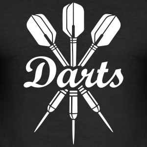 darts dart Club laget sportfantast darttavla Logo T-shirts - Slim Fit T-shirt herr