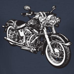 Navy chopper hog bike motorrad T-shirts - slim fit T-shirt