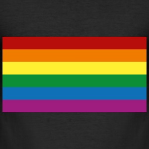 Rainbow Flag [Gay] T-shirts - Herre Slim Fit T-Shirt