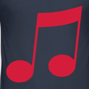 Dark navy muzieknoot T-shirts - slim fit T-shirt