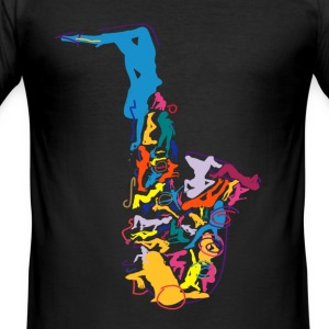 Sax Addict - Men's Slim Fit T-Shirt