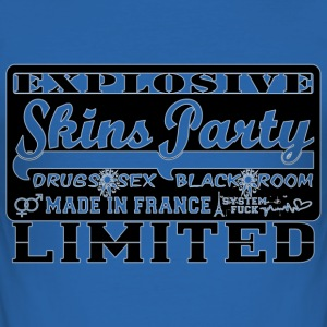 explosive skins party made in france T-Shirts - Men's Slim Fit T-Shirt