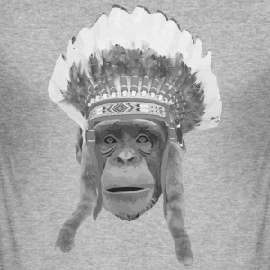 indian headdress monkey T-Shirts - Men's Slim Fit T-Shirt