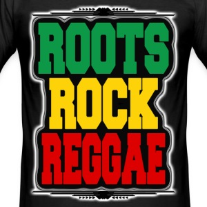 roots rock reggae T-Shirts - Men's Slim Fit T-Shirt