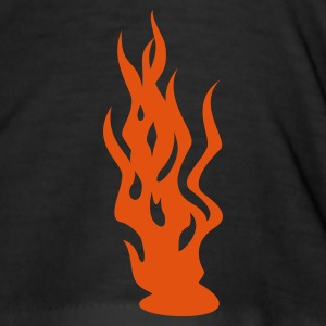 Black Flammen / flames (1c) Men's T-Shirts - Men's Slim Fit T-Shirt