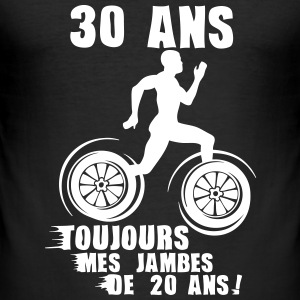 30 ans jambes course sprinter athlete 20 Tee shirts - Tee shirt près du corps Homme