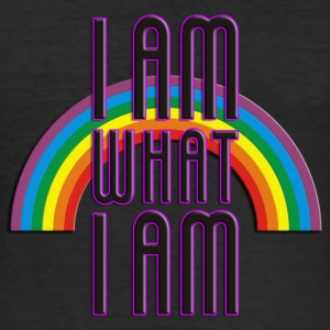 I AM WHAT I AM - RAINBOW | Slim Fit Shirt - Männer Slim Fit T-Shirt