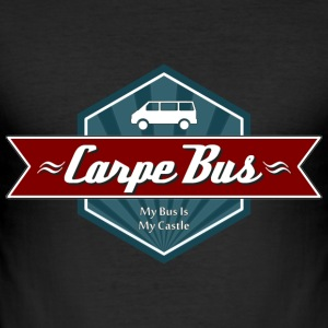 Carpe Bus Retro-Red [Men] - Männer Slim Fit T-Shirt