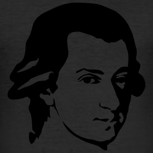 Mozart portrait yellow t shirt men - Men's Slim Fit T-Shirt