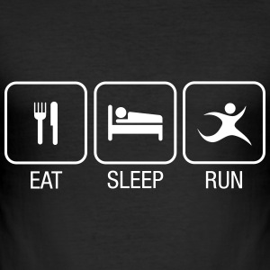 Eat, Sleep, Run T-Shirts - Männer Slim Fit T-Shirt