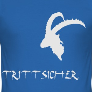 Trittsicher - Männer Slim Fit T-Shirt