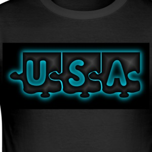 Create your USA T-SHIRT - Men's Slim Fit T-Shirt
