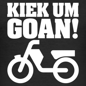 Zwart Kiek um goan! T-shirts - slim fit T-shirt
