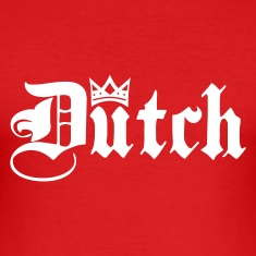 Red Dutch with Crown Men's T-Shirts