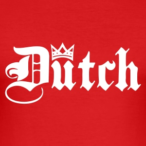 Red Dutch with Crown Men's T-Shirts - Men's Slim Fit T-Shirt