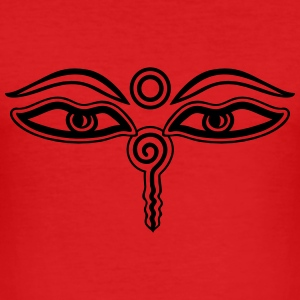 Buddha Eyes, Third Eye, Wisdom & Enlightenment T-Shirts - Men's Slim Fit T-Shirt