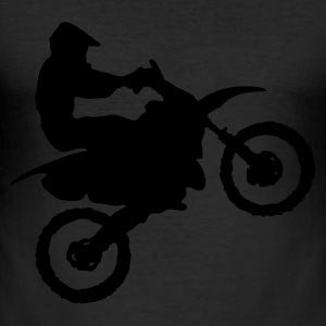 Egg yellow Motocross - MX Men's T-Shirts - Men's Slim Fit T-Shirt