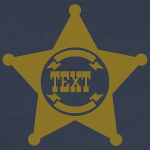 Sheriff Star, your text, Old West, Wild, America, T-shirts - Herre Slim Fit T-Shirt