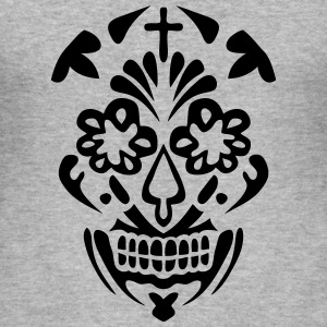 tete mort mexicaine skull dead head 129 Tee shirts - Tee shirt près du corps Homme