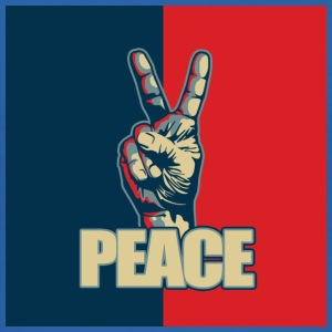 Peace hand sign - Men's Slim Fit T-Shirt
