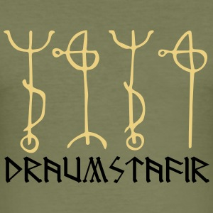 Draumstafir, sigil to dream what your heart desire T-shirts - Slim Fit T-shirt herr
